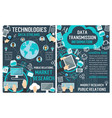 banners about data technology vector image vector image