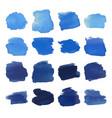 blue blots watercolor set vector image vector image