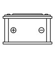car battery icon outline style vector image vector image