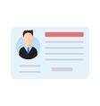 Car driver license man vector image vector image