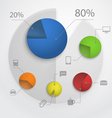 Color pie-chart diagram collection vector image