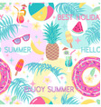colorful summetime seamless pattern vector image