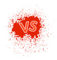 concept of confrontation final fighting versus vs vector image vector image