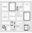 Corporate identity elements big set vector image