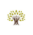 creative people tree logo vector image vector image