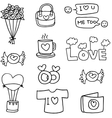 Doodle of sweet object hand draw vector image