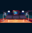 empty basketball court cartoon