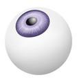 eye ball mockup realistic style vector image vector image