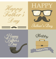 Fathers Day card collection vector image