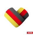 Flag icon in the form of heart I love Germany vector image