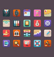 Flat icons set of finance