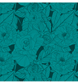 floral background with roses vector image vector image