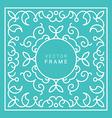 Floral Frame Line Art Design Template vector image