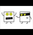 funny icon faces vector image vector image