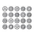 Gear icons silhouette isolated engine wheel