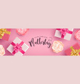 german mothers day banner with gifts and flowers vector image vector image