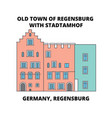 germany regensburg old town stadtamhof line icon vector image vector image