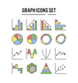 graph and diagram icon in filled outline design vector image vector image