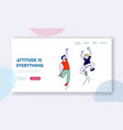 happiness childhood and freedom website landing vector image vector image