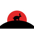 hare icon african animal silhouette art image