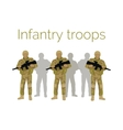 Infantry Troops Soldiers with Weapon vector image vector image