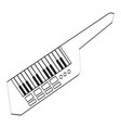 isolated keytar icon musical instrument vector image vector image