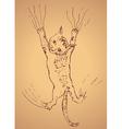 Kitten Scratching Sketch2 vector image vector image
