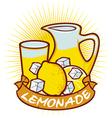 lemonade label vector image