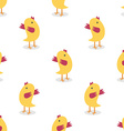 Little chickens seamless pattern vector image vector image