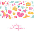 magic and fairytale elements vector image