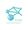 Mind Connection Logo Science Design vector image