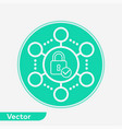 network protection icon sign symbol vector image