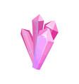 pink precious stones crystal gem vector image vector image