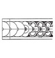 plastic border rosette band is a louis xvi style vector image vector image
