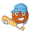 playing baseball basket ball in character vector image