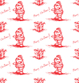 red seamless santa claus vector image vector image