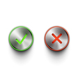 round buttons vector image vector image