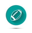 rugball icon on green background with shadow vector image