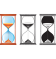 sand clock vector image vector image