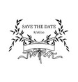 save the date element vector image vector image