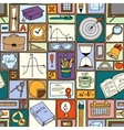 Science math theme School background vector image