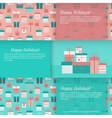 Set of banners with gift boxes vector image vector image
