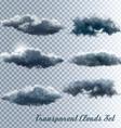 set transparent clouds vector image vector image