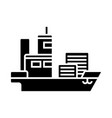 ship cargo container icon vector image