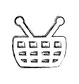 shopping basket symbol vector image vector image