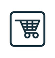 shopping cart icon Rounded squares button vector image