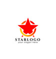star logo design template star icon with circle vector image vector image