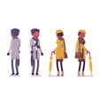 stylish young black man and woman in autumn vector image