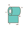 toilet paper icon design vector image