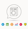 washing machine icon washer sign vector image vector image